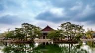 View of Gyeonghoeru pavilion (National Treasures of South Korea 224) in Gyeongbokgung Royal Palace (Korean National Treasure 223)