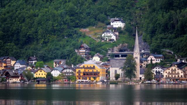 View of Hallstatt across lake at daytime