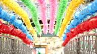 View of Hanging Paper Lantern for Celebration of Buddha´S Birthday at Bodokak Bridge in Okcheonam(temple)