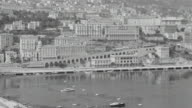 WS View of harbor with city in back side at Monte Carlo