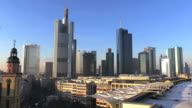 WS View of Hauptwache and cityscape / Frankfurt, Main, Hesse, Germany
