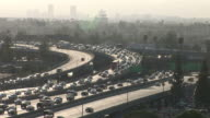 View of heavy traffic in Los Angeles United States