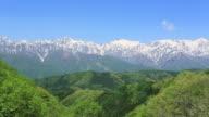WS View of Hida Mountains, Snow-capt mountains and Northern Alps / Hakuba, Nagano Prefecture, Japan