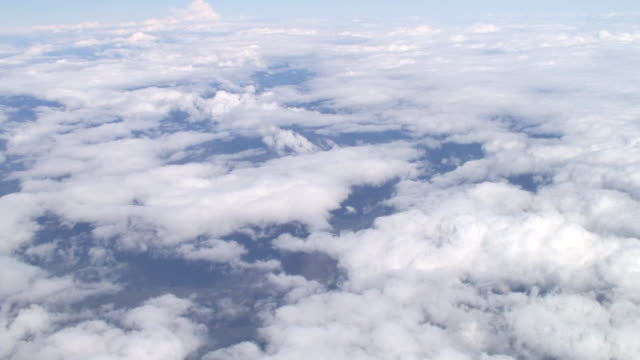 WS AERIAL View of high angle looking down at cloudscape / Sydney, New South Wales, Australia
