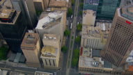 WS AERIAL View of highway and buildings / Adelaide, South Australia, Australia