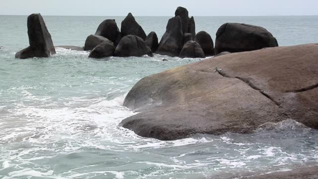 WS View of Hin Ta-Hin Yai rock formation / Koh Samui, Thailand