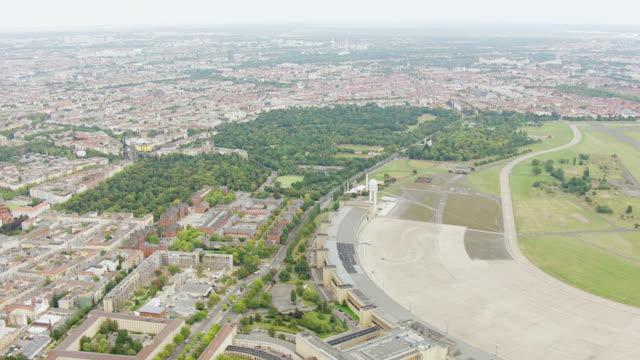 WS AERIAL View of Historic Airfield Tempelhof / Berlin, Germany