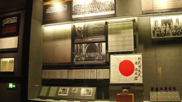 A view of historic photos of Unit 731 in the Exhibition Hall Of Crime Evidence Of Japanese Germ Factory on May 19 2017 in Harbin China This Japanese...