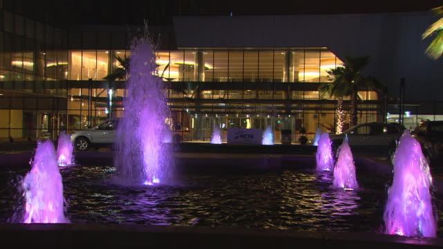 MS View of Hotel Talatona and entrance fountain / Luanda, Angola