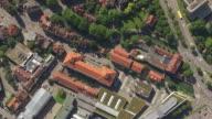 WS AERIAL ZI TS View of Hotels surrounding by houses in Stuttgart Region / Esslingen, Baden Wurttemberg, Germany