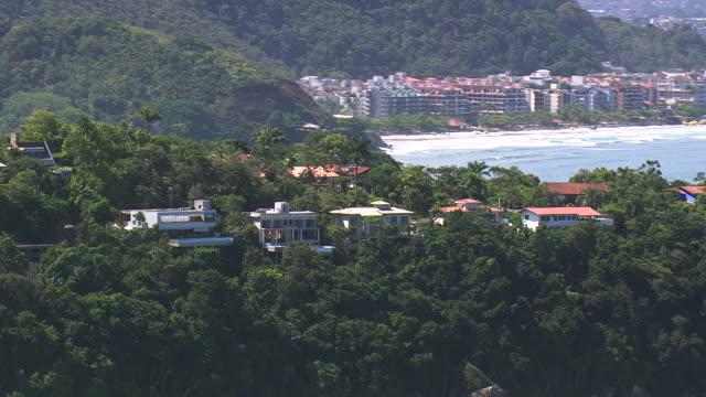 Ws Aerial View Of Houses Near Ubatuba Coastline Sao Paulo ...