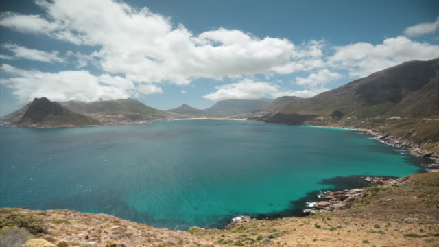 WS T/L View of Hout Bay from Chapman's Peak Drive / Cape Town, Western Cape, South Africa