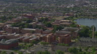 WS AERIAL View of Howard University Campus / Washington, Dist. of Columbia, United States