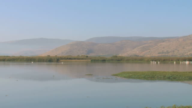 WS PAN View of Hula valley / Hula Valley, Upper Galilee, Israel
