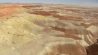 WS AERIAL View of Humphrey's Peak above little painted Desert / Arizona, United States