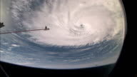 View of Hurricane Florence from the International Space Station eye of the hurricane can be seen