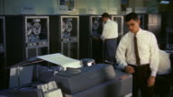 MS PAN  View of  ibm machine room and  clerks / Washington D.C. United States