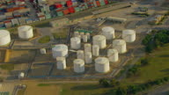 WS AERIAL ZI ZO View of industrial area / Adelaide, South Australia, Australia
