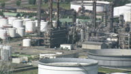 WS AERIAL ZI ZO TD View of industrial area at Antwerp Docks / Flemish Region, Belgium