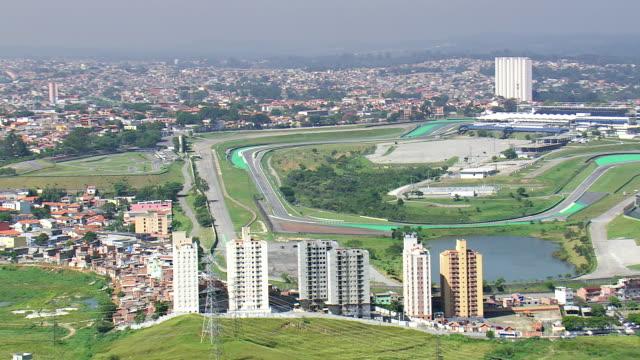 Ws Aerial View Of Interlagos Circuit Sao Paulo Brazil ...
