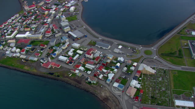WS DS AREAIL View of Isafjordur town / Iceland
