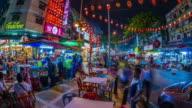 MS T/L View of Jalan Alor and popular evening dining spot / Kuala Lumpur, Malaysia