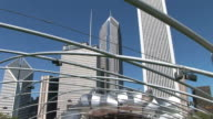 View of Jay Pritzker Pavilion in Millennium Park Chicago United States