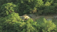 MS ZI AERIAL View of Jefferson Rock in Jefferson County / West Virginia, United States