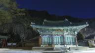 MS T/L View of Jeongmyeolbogung Buddhist sanctuary in Bubheungsa Templel / Yeongwol, Gangwondo, South Korea