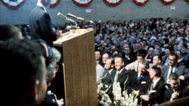 MS View of John Glenn addressing united nations assembly