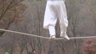 MS TS View of Jultagi (Korean tradition of tightrope walking) / Gwacheon Kyonggi-Do Province South Korea