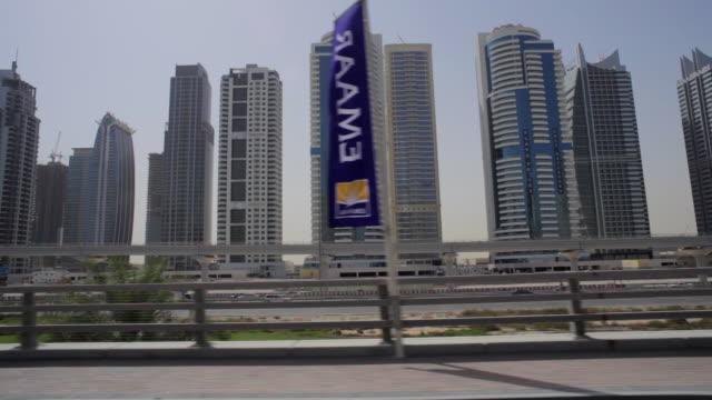 WS POV View of Jumeirah Lake Towers / Dubai, United Arab Emirates