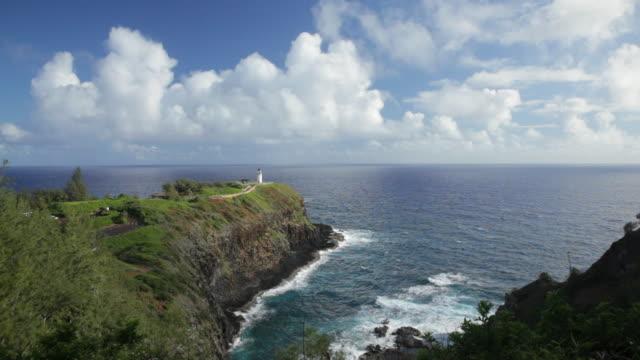 WS View of Kilauea Lighthouse and ocean / Kilauea, Kauai, Kauai, Hawaii, United States