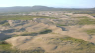 WS AERIAL View of Killpecker Sand Dunes / Wyoming, United States