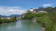 View of Kufstein Fortress with Inn river. Kufstein, Tyrol, Austria, Europe.