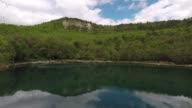 A view of Lake Of Sinizzo in Abruzzo Italy on May 7 2017 Lake Sinizzo is a small lake located in Abruzzo in the province of L'Aquila