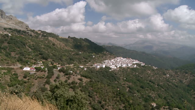 WS View of Landscape near mountain village Benadalid / Benadalid, Andalusia, Spain