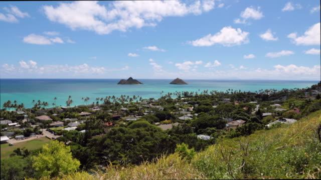 View of Lanikai Beach, Kailua, Oahu, Hawaii