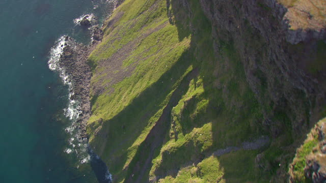 MS AERIAL TD View of Latrabjarg / Iceland