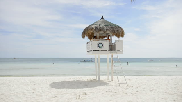 WS View of Life guard station at White Beach, / Boracay, Philippines