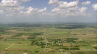 WS AERIAL View of Little town south of Dallas / Texas, United States
