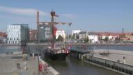 WS View of log Neuer Hafen (new harbor) /Bremerhaven, Bremen, Germany