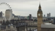 WS View of London with Big Ben and London Eye / UK
