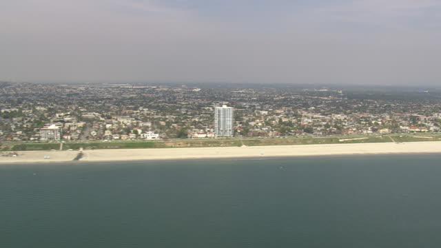 WS AERIAL ZI ZO View of long beach / California, United States