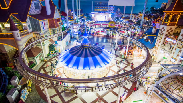 WS T/L View of Lotte World Amusement Park / Seoul, South Korea