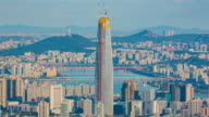 View of Lotte World Tower (One of the tallest buildings in Korea) and Seoul city