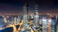 T/L view of Lujiazui Financial Zone in Shanghai at night