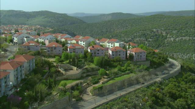 AERIAL View of Ma'alot-Tarshiha / Western Galilee, Israel