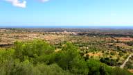 View of Majorca plains near by Santuario de la Consolación - S'Alqueria Blanca - Santanyí / Balearic Islands, Spain