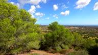 View of Majorca plains near by Santuario de la Consolacion - Alqueria Blanca - Santanyi / Balearic Islands, Spain